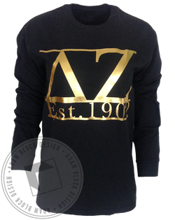 Delta Zeta 1902 Long Sleeve-Adam Block Design