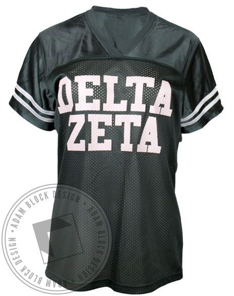 Delta Zeta 77 Football Jersey-Adam Block Design