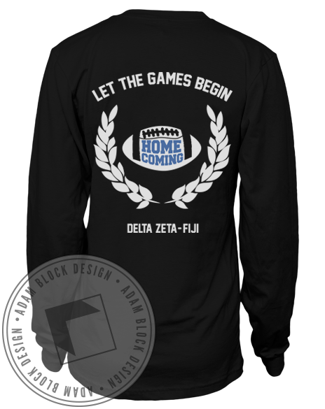 Delta Zeta And Fiji Let The Games Begin Long Sleeve-Adam Block Design