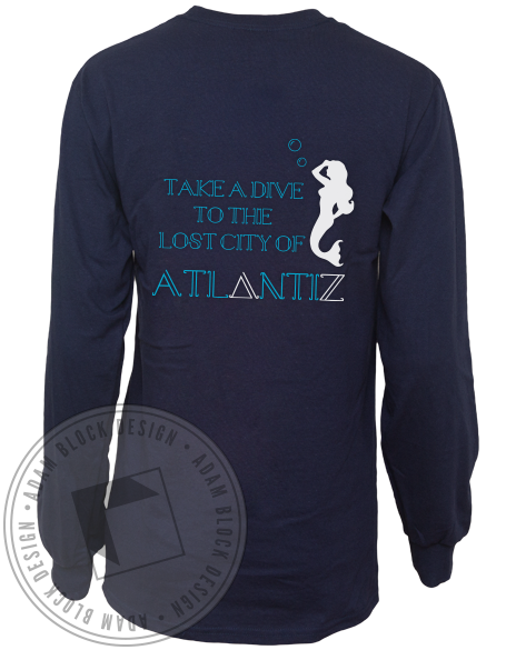 Delta Zeta Atlantiz Mermaid Longsleeve-Adam Block Design