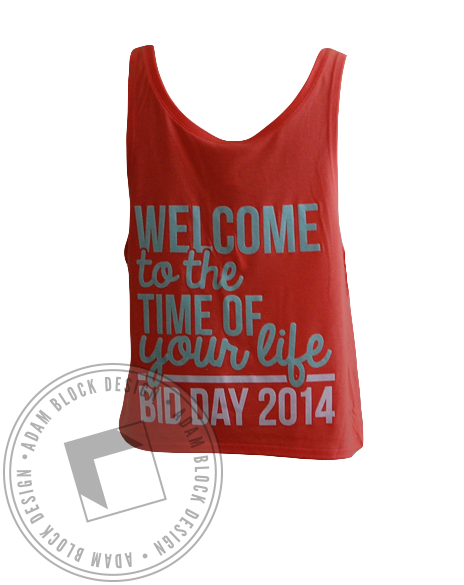 Delta Zeta Bid Day Crop Top-Adam Block Design