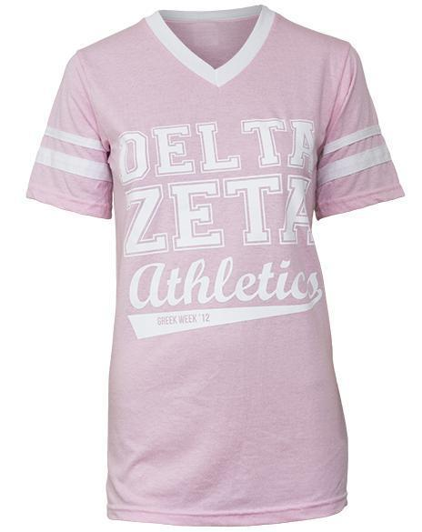 Delta Zeta Champion Athletic V-Neck-Adam Block Design
