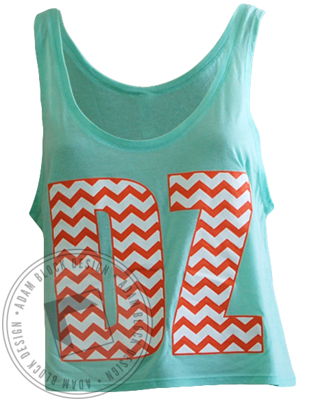 Delta Zeta Chevron Bid Day Crop Top-Adam Block Design