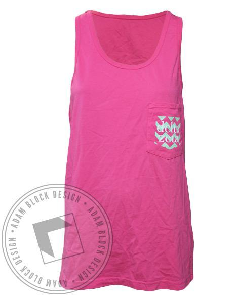 Delta Zeta Chevron Bid Day Pocket Tank-Adam Block Design