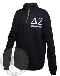 Delta Zeta Dad's Day Half-Zip-Adam Block Design