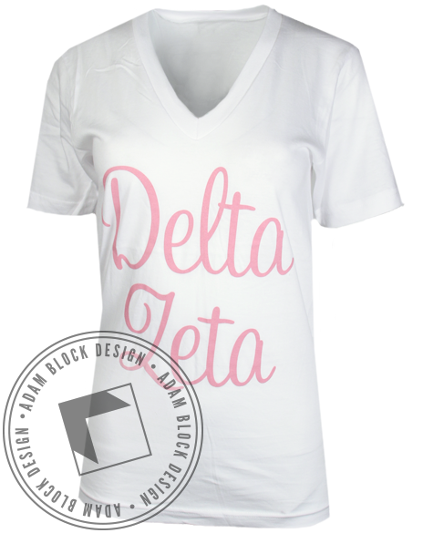 Delta Zeta Do More Vneck-Adam Block Design