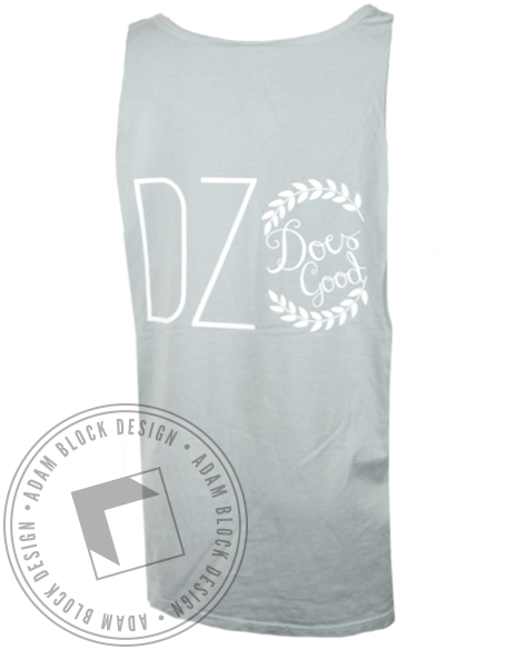 Delta Zeta Does Good Tank Top-gallery-Adam Block Design