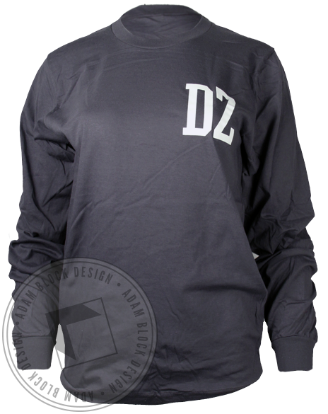 Delta Zeta Family Football Longsleeve Shirt-Adam Block Design