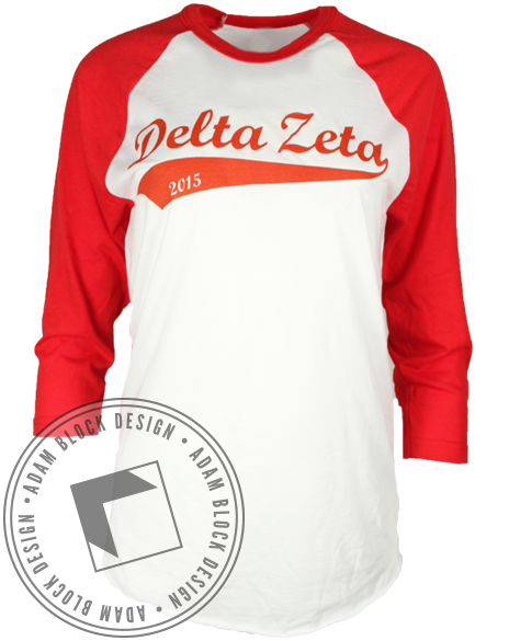 Delta Zeta Home Sweet Home Baseball Tee-gallery-Adam Block Design