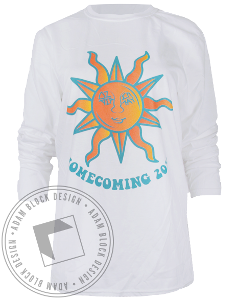 Delta Zeta Homecoming Beach Longsleeve Shirt-gallery-Adam Block Design