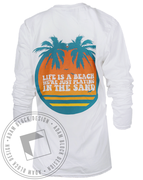 Delta Zeta Homecoming Beach Longsleeve Shirt-Adam Block Design