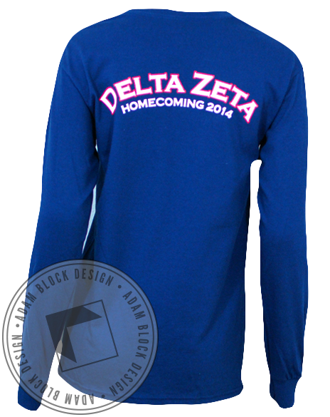 Delta Zeta Homecoming Longsleeve-Adam Block Design