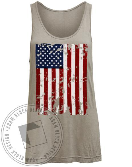 Delta Zeta In DZ We Trust Flag Tank-Adam Block Design