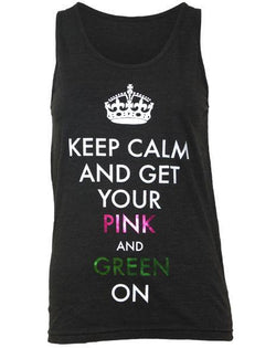 Delta Zeta Keep Calm Tank-Adam Block Design