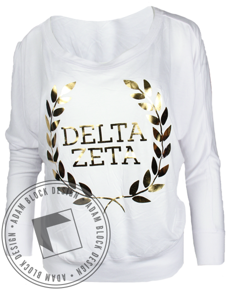 Delta Zeta Laurel Wreath Long Sleeve-Adam Block Design