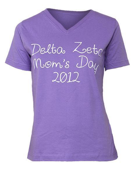 Delta Zeta Mom's Day Bow V-neck-gallery-Adam Block Design