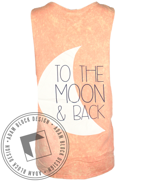 Delta Zeta Moon And Back Muscle Tank-Adam Block Design