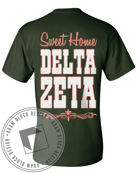 Delta Zeta Sweet Home Tee-gallery-Adam Block Design