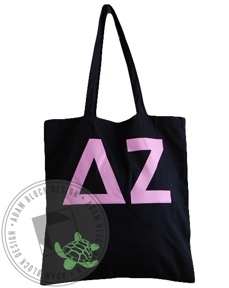 Delta Zeta Turtle DZ Tote-gallery-Adam Block Design