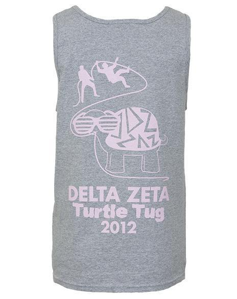 Delta Zeta Turtle Tug Grey Tank-Adam Block Design