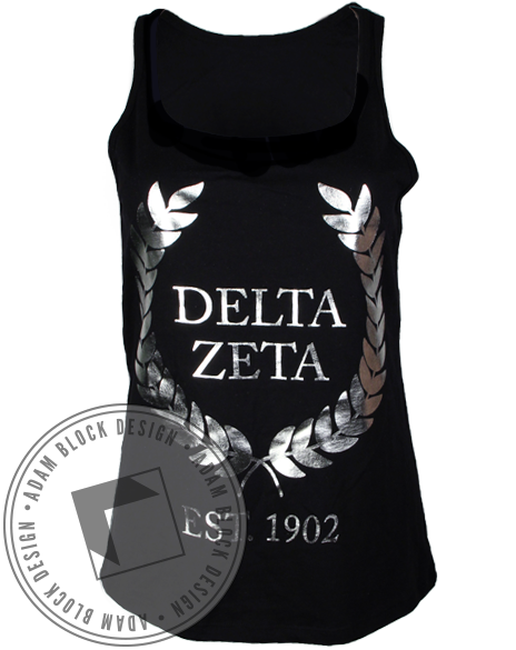 Delta Zeta Wreath Tank-Adam Block Design