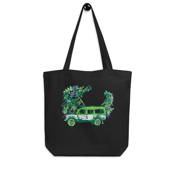 Land Rover Colorful Jungle Eco Tote Bag - Color: Black - Adam Block Design