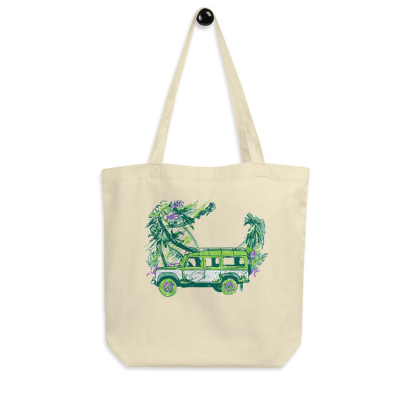 Land Rover Colorful Jungle Eco Tote Bag - Color: Oyster - Adam Block Design