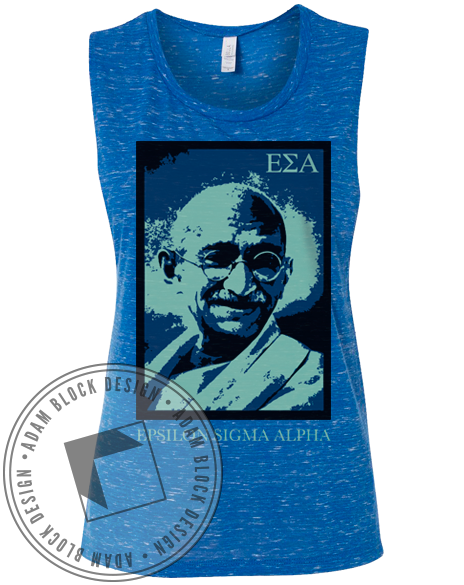 Epsilon Sigma Alpha Ghandi Change Tank Top-Adam Block Design