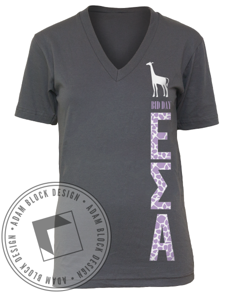 Epsilon Sigma Alpha Giraffe V-Neck-gallery-Adam Block Design