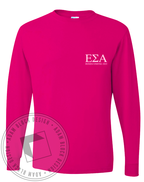 Epsilon Sigma Alpha Homecoming Longsleeve Shirt-gallery-Adam Block Design