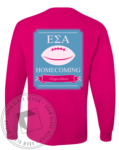 Epsilon Sigma Alpha Homecoming Longsleeve Shirt-Adam Block Design