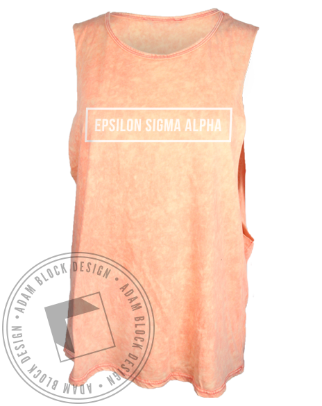 Epsilon Sigma Alpha Muscle Tank Top-Adam Block Design