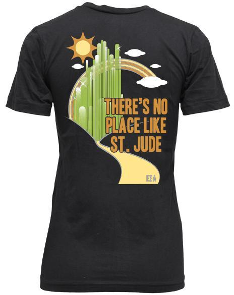 Epsilon Sigma Alpha No Place Like St. Jude V-neck-gallery-Adam Block Design