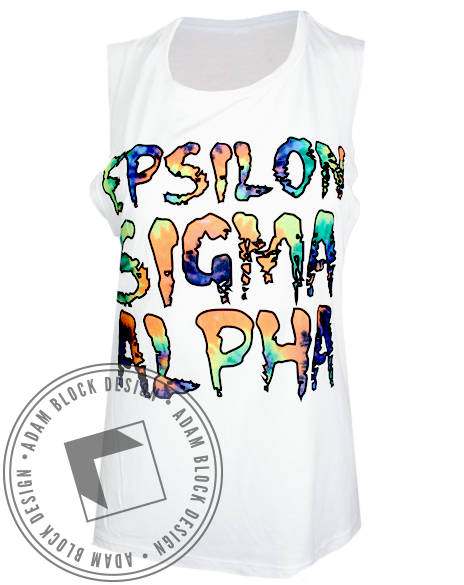 Epsilon Sigma Alpha Tie Dye Tank Top-Adam Block Design