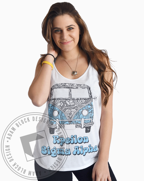 Epsilon Sigma Alpha VW Bus Tank Top-Adam Block Design