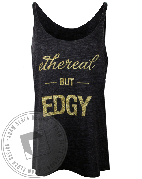 Ethereal But Edgy Tank Top-Adam Block Design