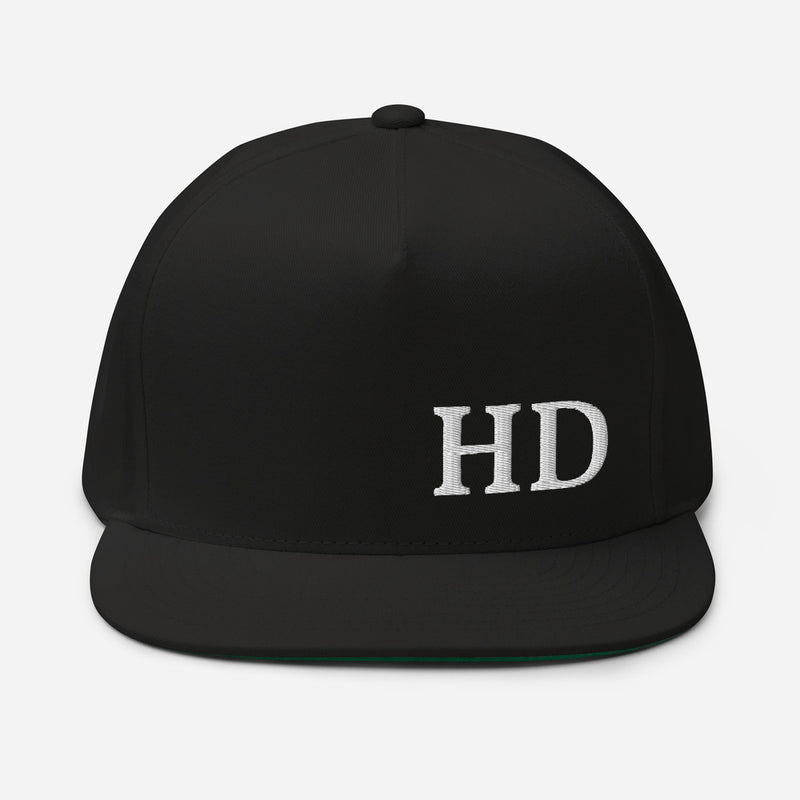 HD Flat Bill Cap - Color: Black - Adam Block Design