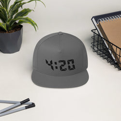 420 Flat Bill Hat - Color: Grey - Adam Block Design