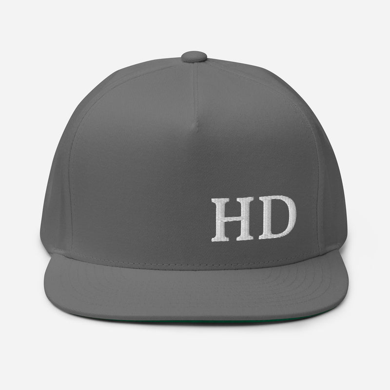 HD Flat Bill Cap - Color: Grey - Adam Block Design