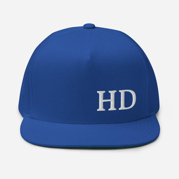 HD Flat Bill Cap - Color: Royal Blue - Adam Block Design