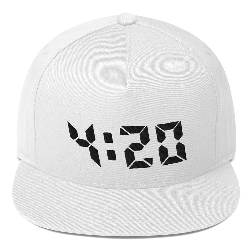 420 Flat Bill Hat - Color: White - Adam Block Design