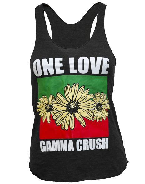 Gamma Chi Delta One Love Tank-Adam Block Design