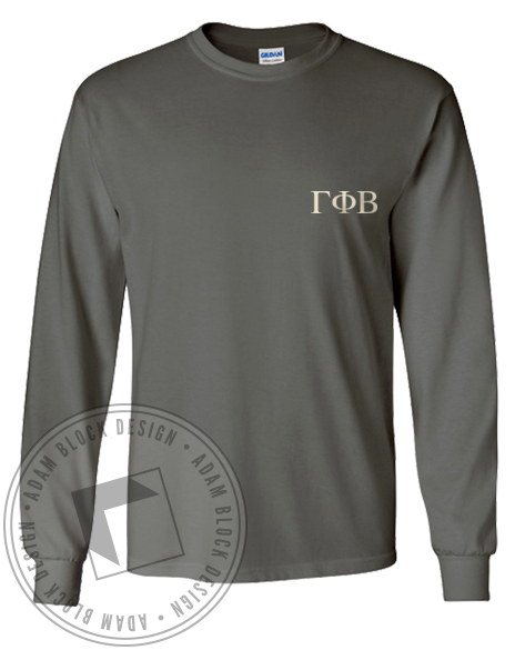 Gamma Phi Beta 1874 Longsleeve Shirt-Adam Block Design