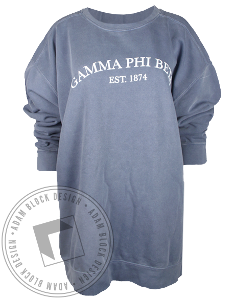 Gamma Phi Beta 1874 Sweatshirt-Adam Block Design