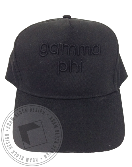 Gamma Phi Beta 3D Embroidery Hat-Adam Block Design