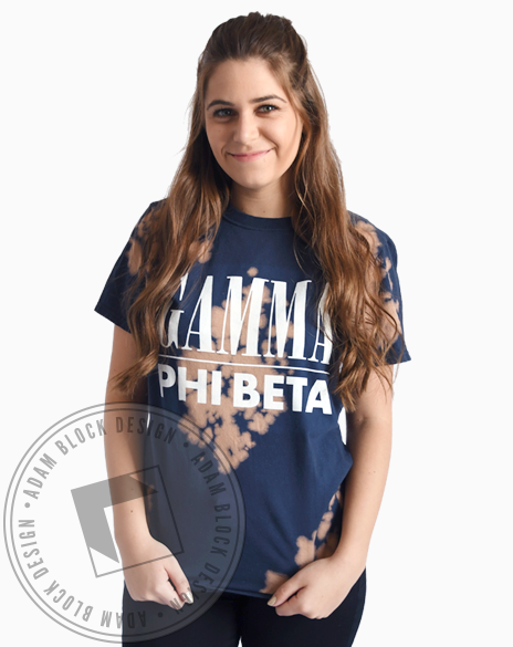 Gamma Phi Beta Acid Washed Tshirt-Adam Block Design