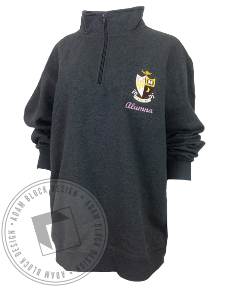 Gamma Phi Beta Alumna Halfzip-Adam Block Design