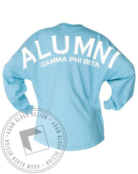 Gamma Phi Beta Alumni Spirit Jersey-Adam Block Design