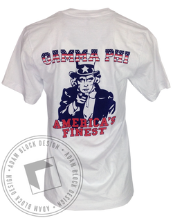 Gamma Phi Beta Americas Finest Short Sleeve-Adam Block Design