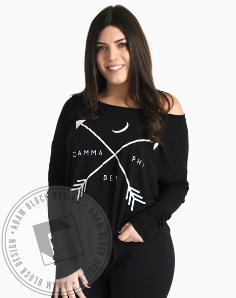 Gamma Phi Beta Arrow Crescent Longsleeve-Adam Block Design
